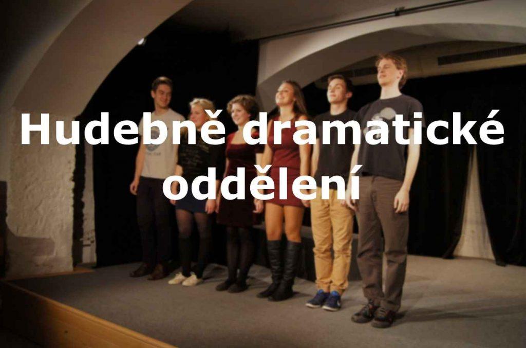 foto s nápisem Hudebně dramatické oddělení